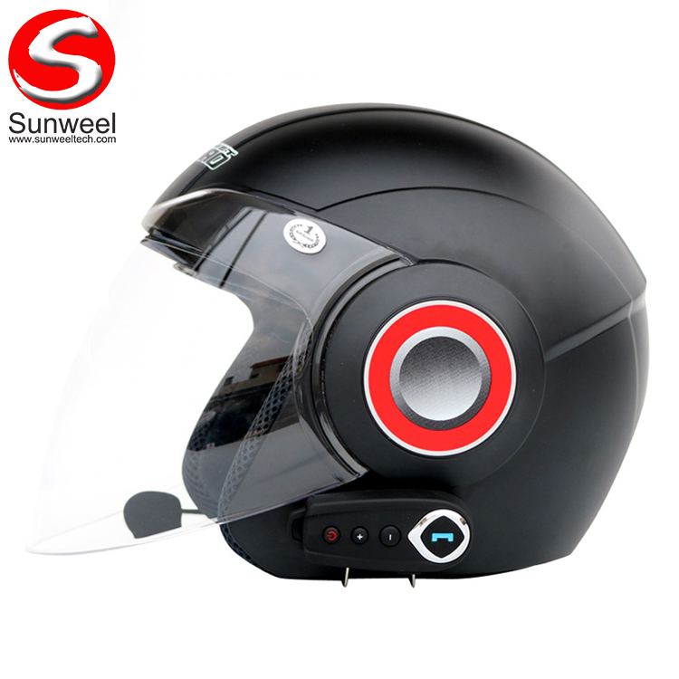 Hot Selling Open Face Bluetooth Headset Motorcycle Helmet With Double Visors