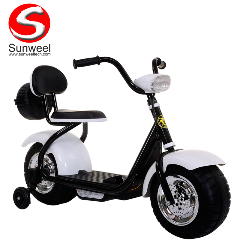 Suncycle Rechargeable Children's Electric Motorcycle 6v Battery Operated Electric Scooter for Kids