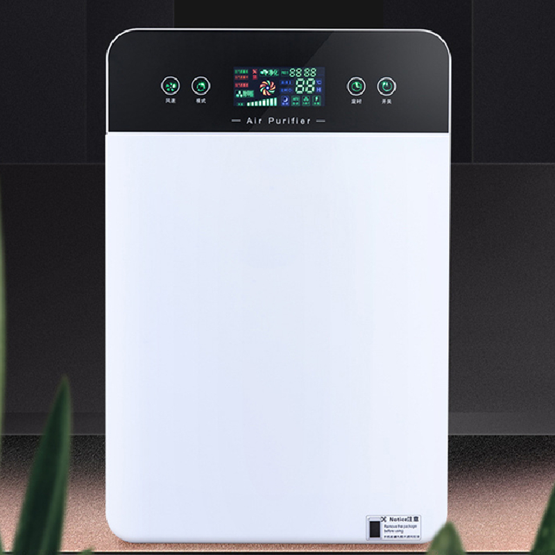 New Portable Smart Remote Control Touch Screen Air Purifier Hepa Filter Home Air Cleaner