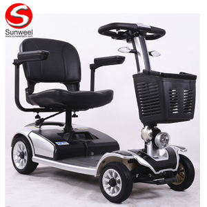 Powerful 250W 24V Four Wheel Electric Mobility Handicapped Scooter