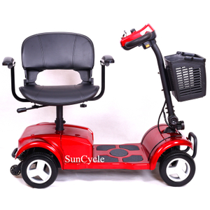 Suncycle Hot Sale Disabled Electric Tricycle Mobility Scooter 4 Wheel Handicapped
