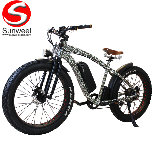 Camouflage Spring Suspension Double Fork Electric Fat Bike