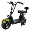 Dual Suspension Lithium Battery Electric Scooter with Seat