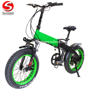 48V500W Folding Electric Bicycle with Hidden Battery