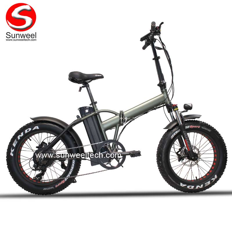 750w Folding Hidden Battery Electric Bike with Crank
