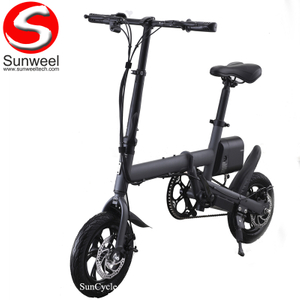 Suncycle New Design Aluminium Alloy Frame 250w Small Electric Folding Bike Electric Bicycle
