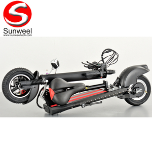 "10"" Self Balancing Electric Scooter with Rear Suspension"