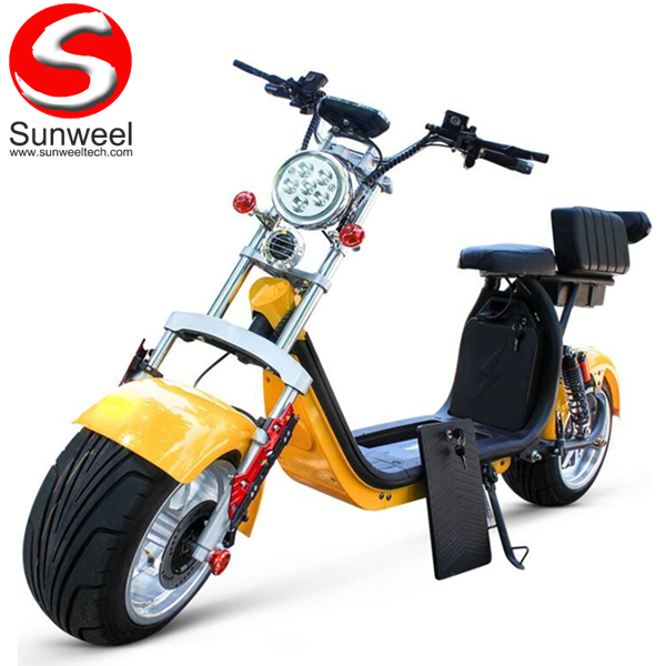 60v2000w Double 20ah Fat Tire Electric Scooter Citycoco