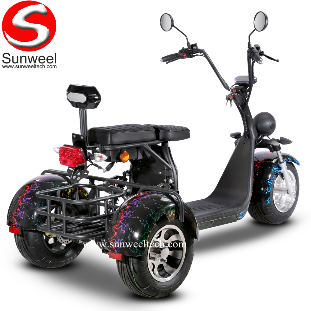 Suncycle Big Wheel Electric Scooter Double Batteries 3 Wheel Electric Trike Tricycle Scooter
